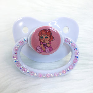 Pink Chibi Baby Girl PM Paci (Custom Options Blank to Full Deco)