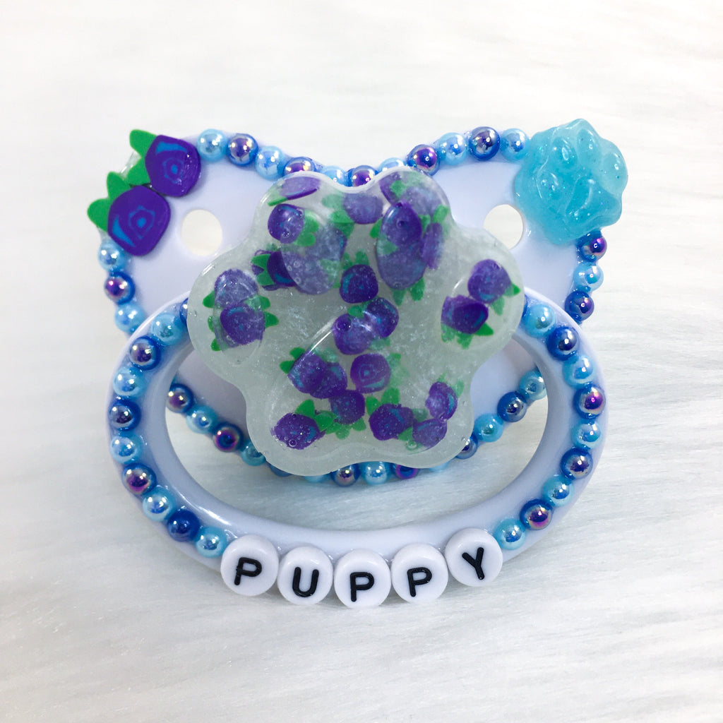 Blueberry Puppy PM Paci