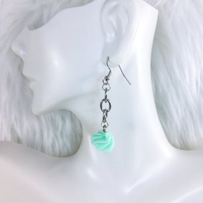 Mint Cream Dangle Earrings