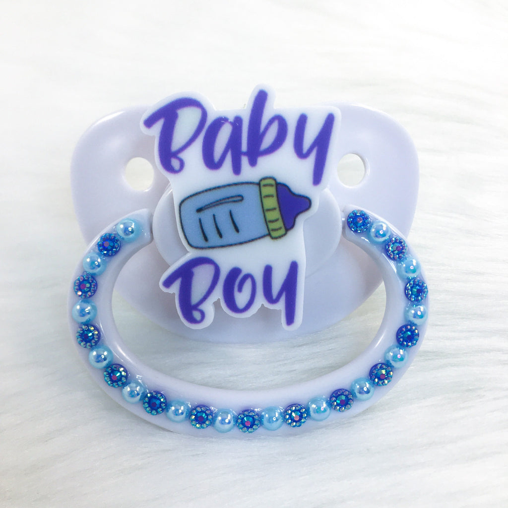 Baby Boy Blue Simple PM Paci