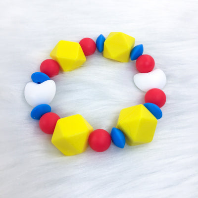 Primary Palette Teether Bracelet 6.25in