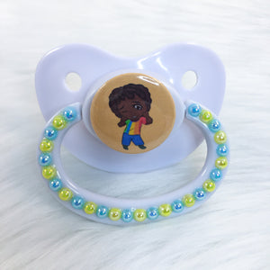 Orange Chibi Baby Boy PM Paci (Custom Options Blank to Full Deco)