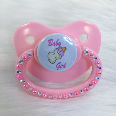 Baby Girl PM Paci (Custom Options Blank to Full Deco)