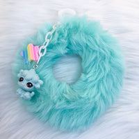 Mint Fluffy Bangle SP Bracelet and Keychain