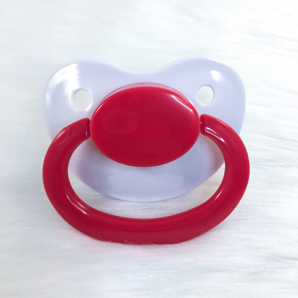 Simple Valentine Color Mix Plain Adult Paci