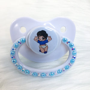 Blue Chibi Baby Boy PM Paci (Custom Options Blank to Full Deco)