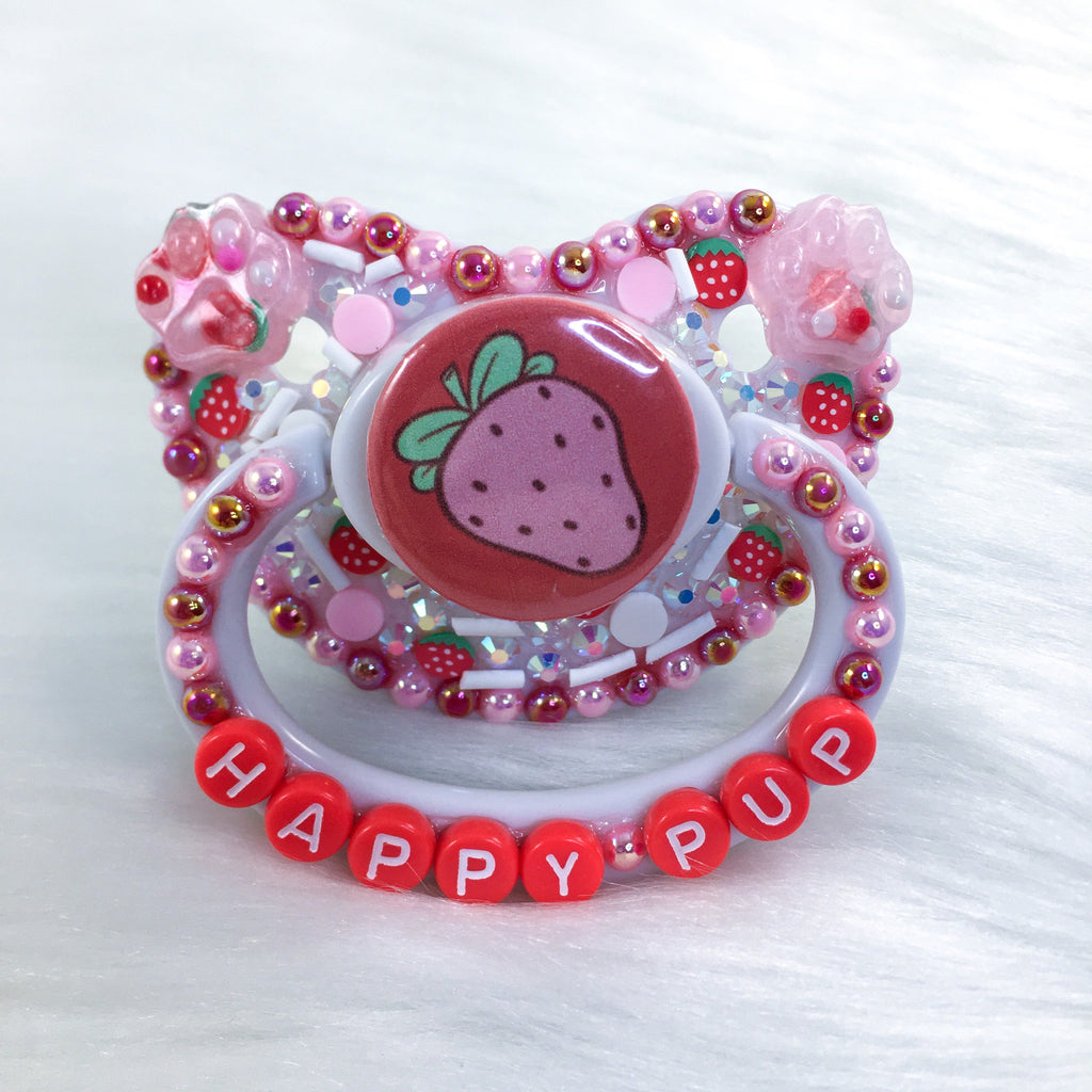 Pink Strawberry PM Paci (Custom Options Blank to Full Deco)