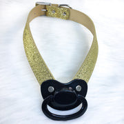 Black and Gold Paci Novelty Gag