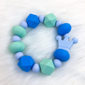 Blue Royalty Chunky Teether Bracelet 7.25in