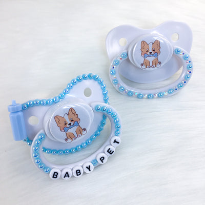 Corgi Puppy PM Paci (Custom Options Blank to Full Deco)