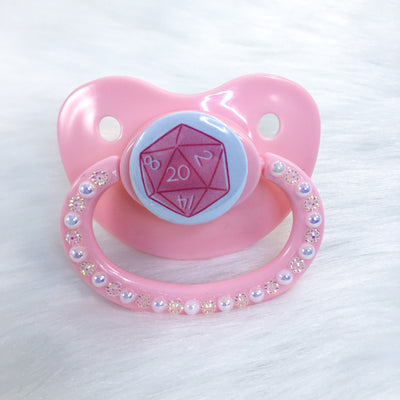 Pink D20 PM Paci (Custom Options Blank to Full Deco)