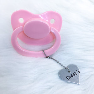 Daddy's Heart Paci Charm