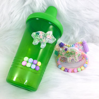 Spring Sprinkles Baby Dino Set (PM Paci and Sippy)