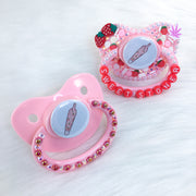 Strawberry Stonie White PM Paci (Custom Options Blank to Full Deco)
