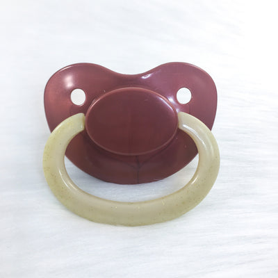 Chocolate Covered Banana Color Mix Plain Adult Paci