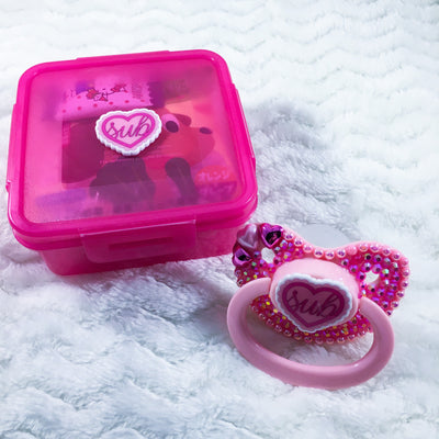 Customizable Sub Ruffle Heart Set (PM Paci, Candy, Storage Container)