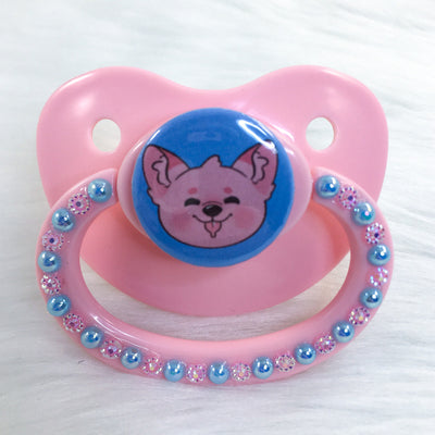 Cotton Candy Puppy PM Paci (Custom Options Blank to Full Deco)