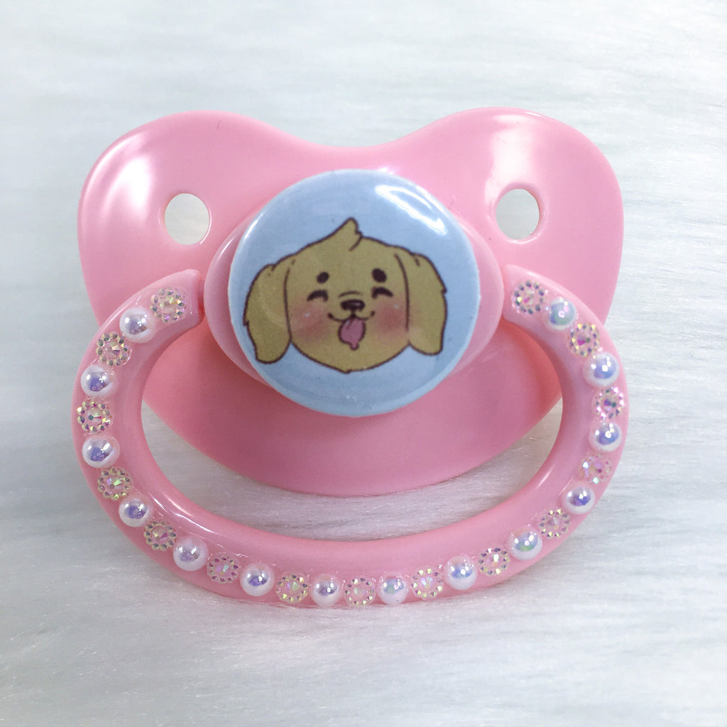 Drooly Pup PM Paci (Custom Options Blank to Full Deco)