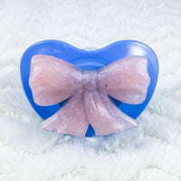 Pink and Blue Bow Handle-less Paci