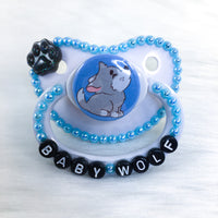 Baby Wolf Baby Blue PM Paci (Custom Options Blank to Full Deco)