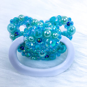Green Gems Partial Encrusted AM Paci