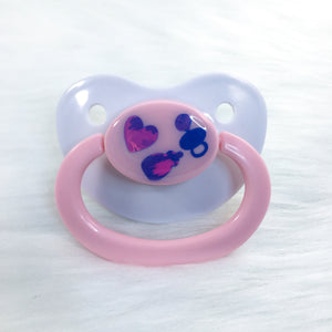 Pink Baby Things Vinyl Paci