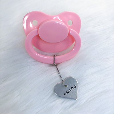 Owned Heart Paci Charm