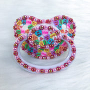 Candy Hearts PM Paci with Customizable Charm