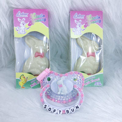 Soft Bun BE Paci and Candy Set