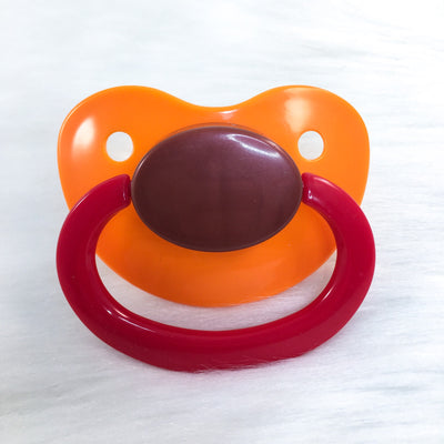 Pumpkin Pie (Orange, Brown, Red) Color Mix Plain Adult Paci