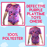 Defective Purple Playtime Toys Onesie Snap-crotch Adult Bodysuit