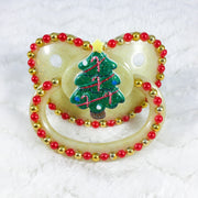 Gold and Red Tree Paci