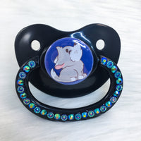 Baby Wolf Navy Blue PM Paci (Custom Options Blank to Full Deco)