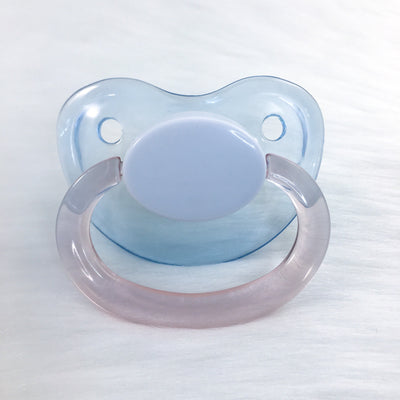 Glossy Blue/Pink Color Mix Plain Adult Paci