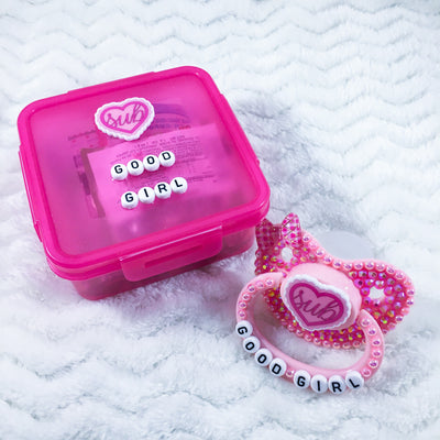 Good Girl Ruffle Heart Set (PM Paci, Candy, Storage Container)