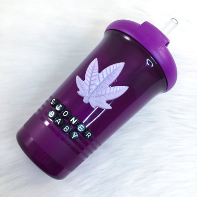 Purple Stonie Baby Straw Top Sippy