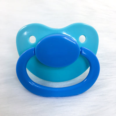 Baby Blues Color Mix Plain Adult Paci