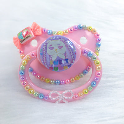 Sweet Bunny Rope Bunny PM Paci (Custom Options Blank to Full Deco)