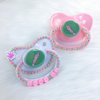 Strawberry Stonie Mint PM Paci (Custom Options Blank to Full Deco)