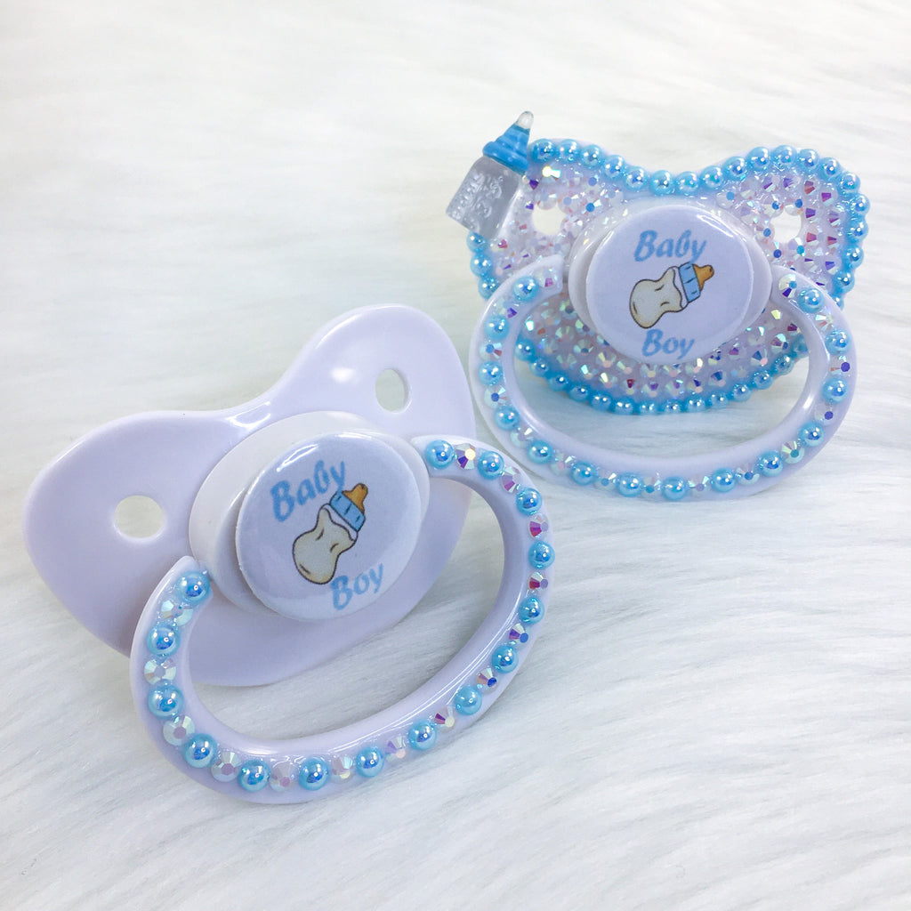 Baby Boy PM Paci (Custom Options Blank to Full Deco)