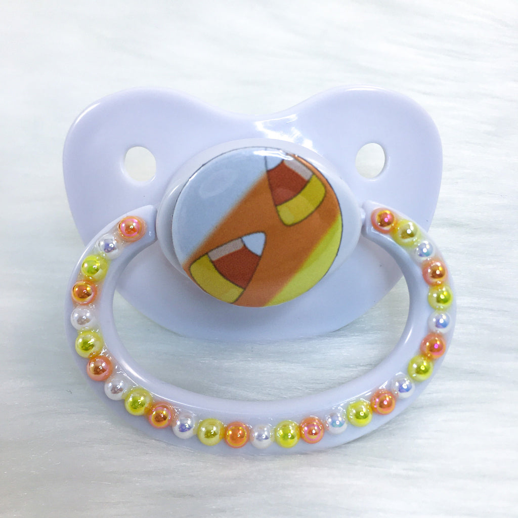 Seeing Double Candy Corn PM Paci (Custom Options Blank to Full Deco)