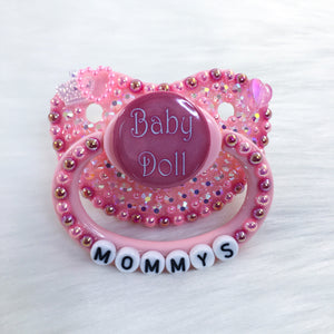 Pink Babydoll PM Paci (Custom Options Blank to Full Deco)
