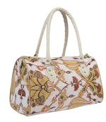 Boho Vegan Handbag in Cream Botanical