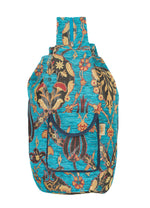 Vegan Shoulder Bag in Aqua Botanical