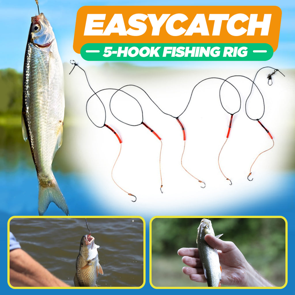 EasyCatch 5-Hook Fishing Rig