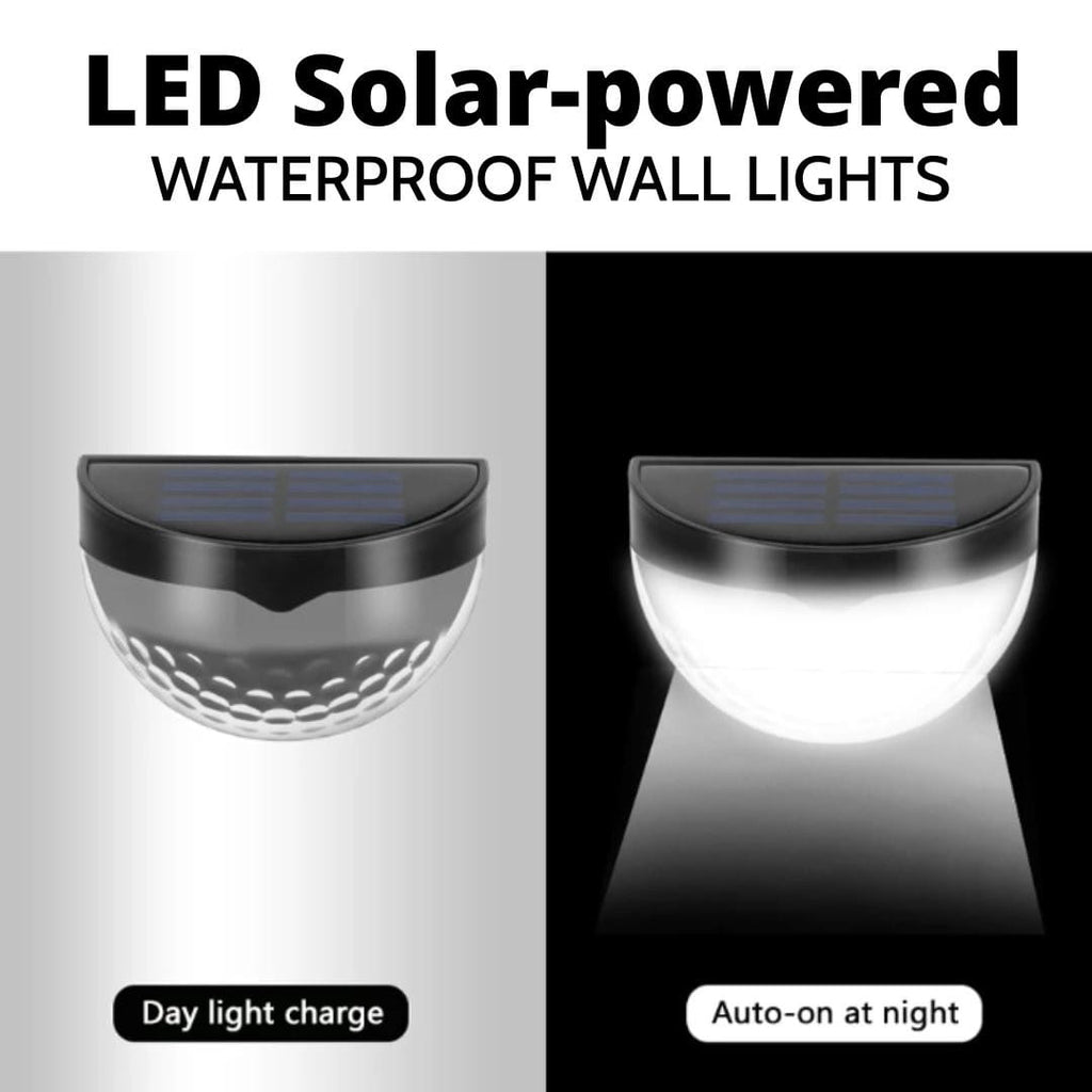 LED Solar-powered Waterproof Wall Lights - IdealWiki