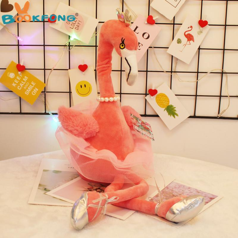 30cm Electric Flamingo plush toy singing and dancing wild bird flamingo stuffed animal figurine fun puzzle for children