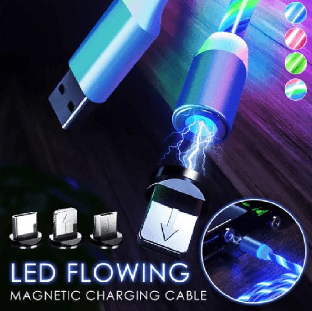 3 in 1 Magnetic LED Flowing Charging Cable - IdealWiki