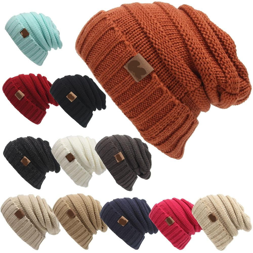 Chunky Warm Winter Knit Beanie - IdealWiki