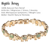 Natural Agate Crystals - Green Elephant Bracelet
